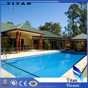Acero galvanizado prefabricada casa de la piscina con planos buy product on - Piscinas de acero galvanizado ...