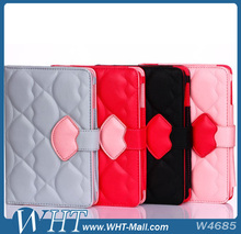 Hot Sale Cute Lips Card Slots Case for iPad Mini 1 2 3