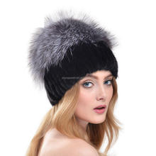 FA108 In 2016 the European mink fur fashion autumn Lady warm hat fo fur thickening jewelry