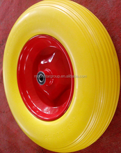 pu polyurethane foam tire 4.80 4.00-8 solid rubber spoke wheels