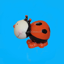 Custom resin ladybug bobblehead bank