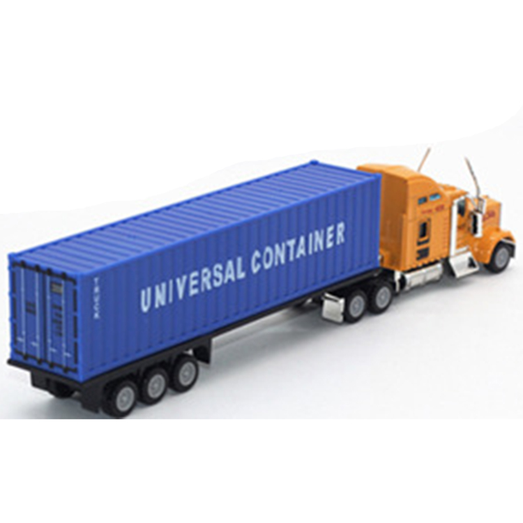new design hot sale 1/87 diecast container truck model With Good Quality