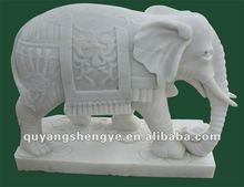 Stone elephant carving and sculpture figurine
