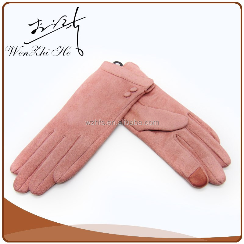 2016 New Design Separated Fingers Thin Fashion Faux Suede Golf Gloves