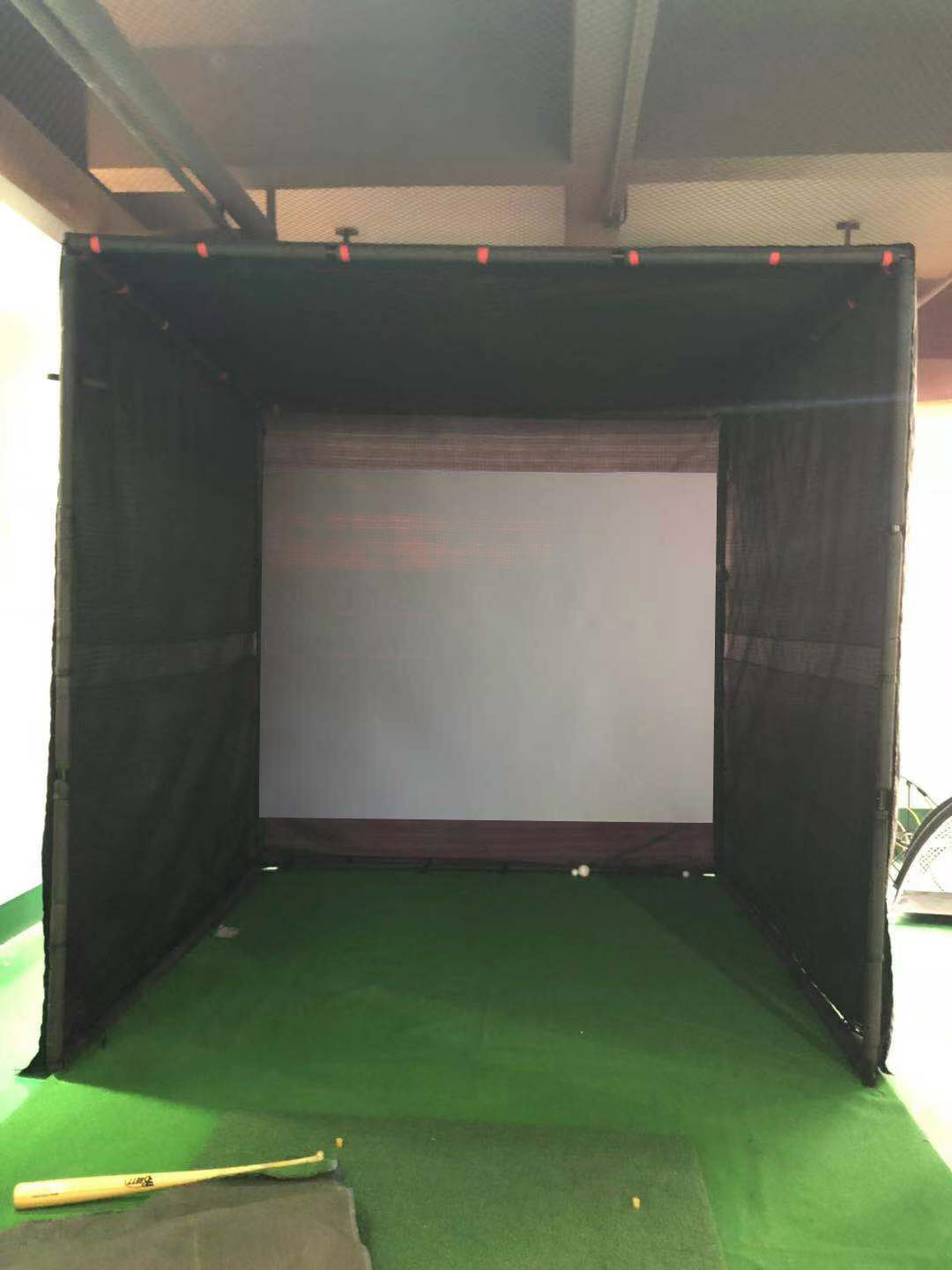 2  Layer Hot sale high quality  golf practice net black  shading  golf net of 3D Golf simulator