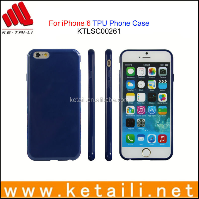 Wholesale price soft blank tpu rubber mobile phone cellphone case cover for iPhone 6 & 7