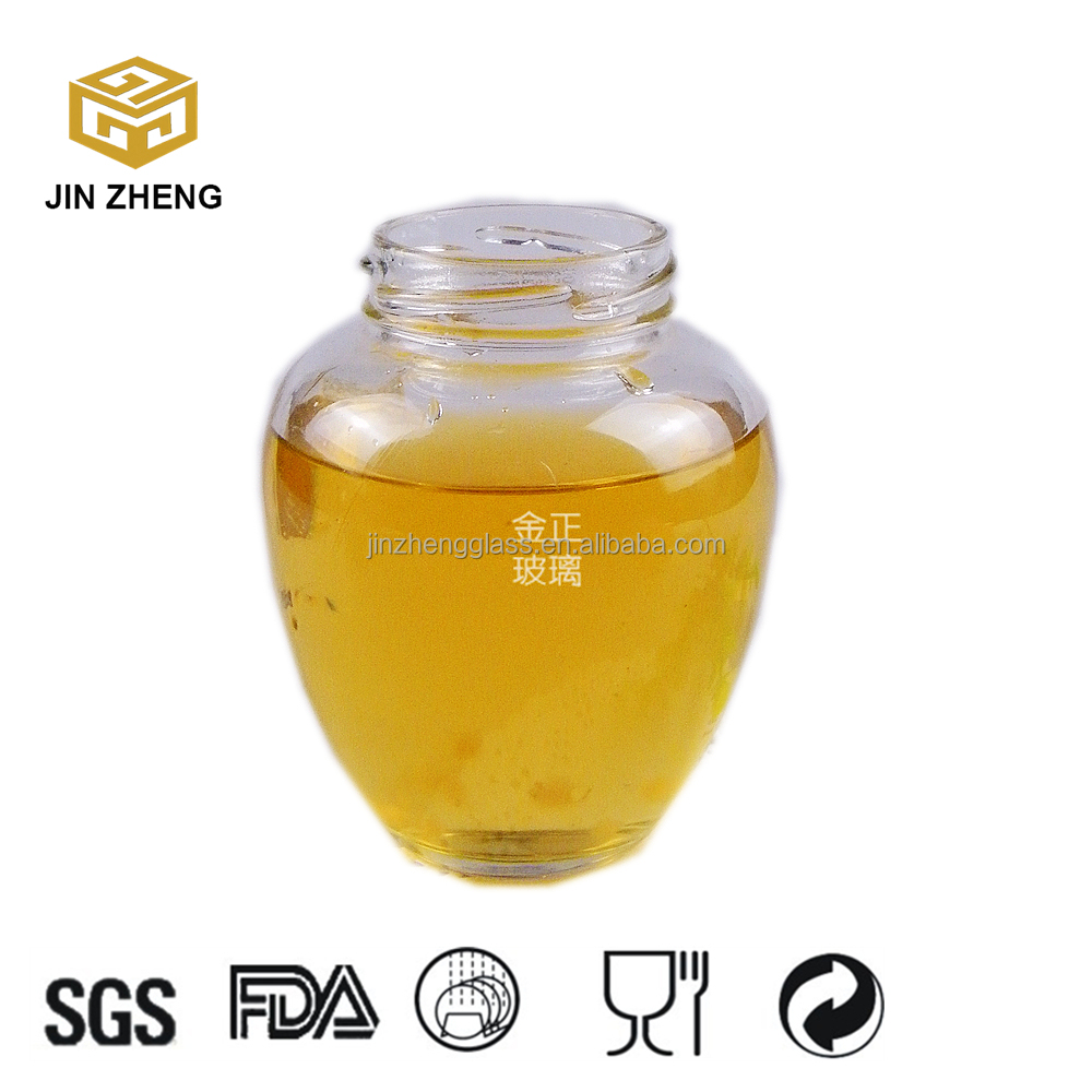 fermented bean curd round 300ml honey jam jar lid containing with Dipper