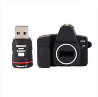 pvc camera shape usb pen drive with custom logo