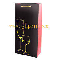 fancy wine bottle gift paper bags for double wine bottles