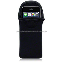 Black Shockproof Neoprene Pouch Case Bag Sleeve With hook&loop for phone pouch