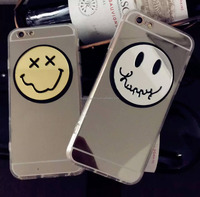 2016 New acrylic mirror mobile phone case cover For iPhone 6plus Korea smile face case