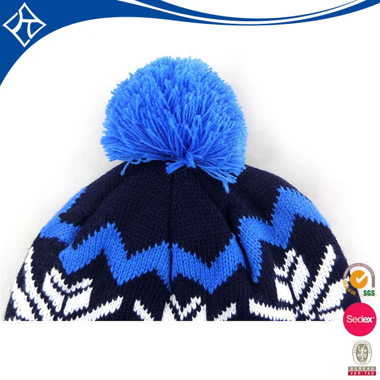 Custom top ball winter lady hat,knitted colorful hat factory
