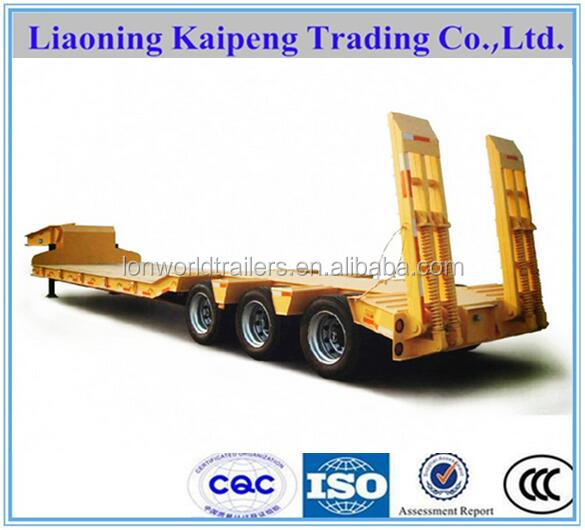 30 ton low flatbed semi trailer for sale