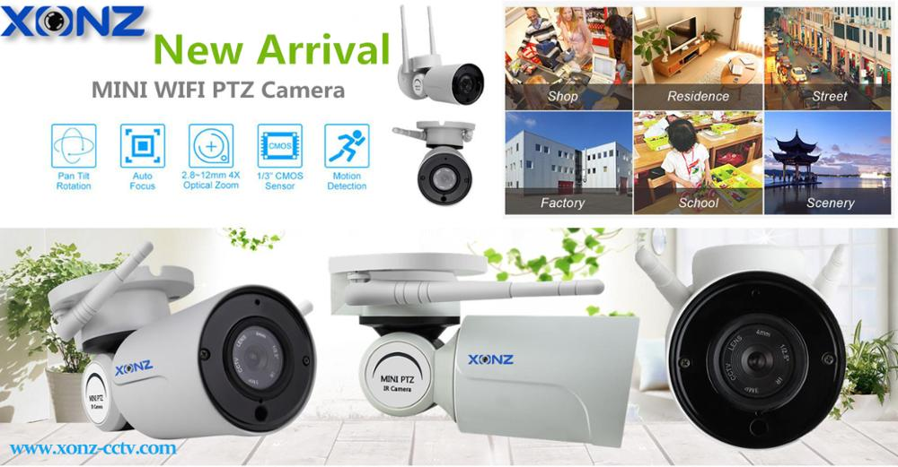 4X Optical Zoom Outdoor 2.8-12mm Lens PTZ Wifi Wireless 1080P Mini 2MP IP Camera P2P