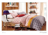 colorful star design twin size 200 thread count 100 cotton printing bed sets sheets