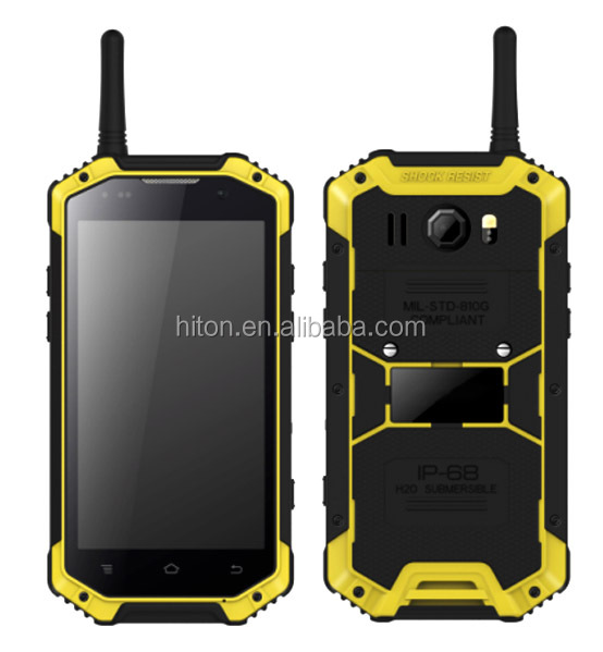 Factory super cheap 4.7inch Android 5.1IP68 water smartphone with Waikie-Talkie PTT NFC SOS rugged mobile phone with NFC SOS PTT