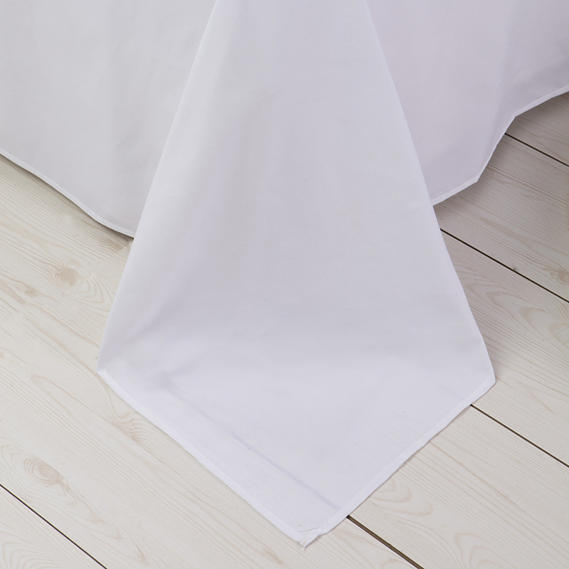 High quality <strong>cotton</strong> 200TC plain white fabric for duvet bed sheet pillow hotel bedding