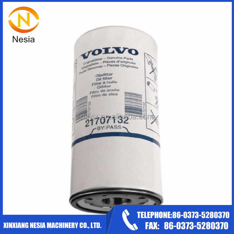 Nesia Supply Diesel engine Excavator Oil Filter use for truck 21707133 21707134 21707132
