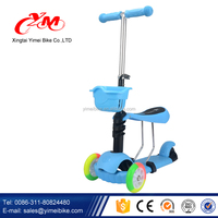 CE certificated kids plastic scooter/kids ride on car scooter cheap/children kids scooter with seat