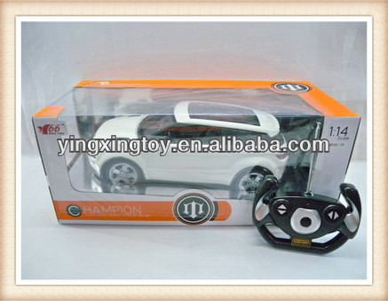 fashion white color 1:14 4 channel big remote control car toy with charger,flashing light