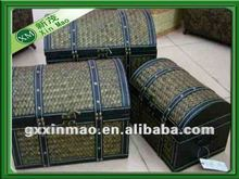 3 pcs a set,handmade storage trunk for home usage