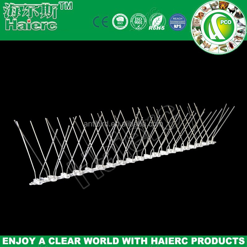 Haierc home depot stainless bird spikes with plastic base for anti bird abuse