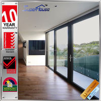 China maid energy saving glass sliding aluminium doors with Australia AS2047 Standard
