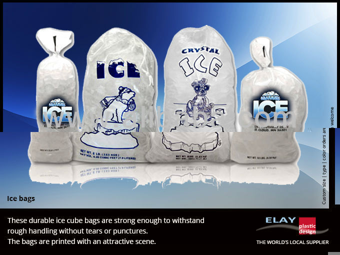 Clear ice Bags