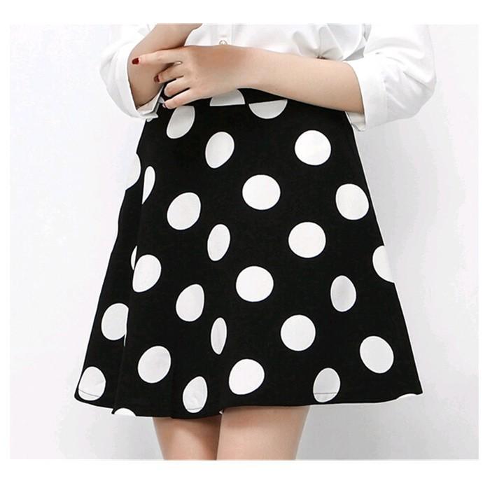 81fe3258d2fa4 Plus 2015 summer A-line chiffon Polka Dot Puff skirts empire Waist Skirt  Women Casual