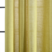 Various Color of Sheers Fabric Hot Selling Home Textile Yellow Voile Sheer Curtain