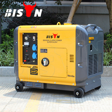 BISON(CHINA) Factory Price Long Run Time 5kw 5kva 5000w Portable Silent Diesel Compressed Air Powered Generator
