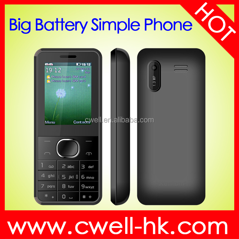 PHOLEPS E160 2.4 inch TFT Screen Old Men Mobile Phone 2300mAh Big Battery Long Standby Big Buttons Unlocked