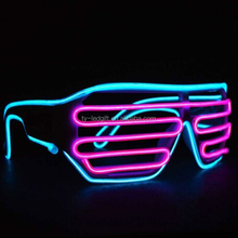 high quality el wire glasses in event sunglasses with el