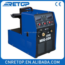 MIG-250I automatic inverter welder low spatter dc 3 in 1 CO2 GAS shield welding machine high quality