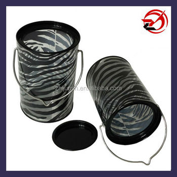 PVC clear tin bucket