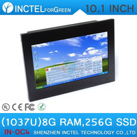 Industrial laptop computer with VGA 2 RS232 10.1 inch 4-wire resistive screen 8G RAM 256G SSD