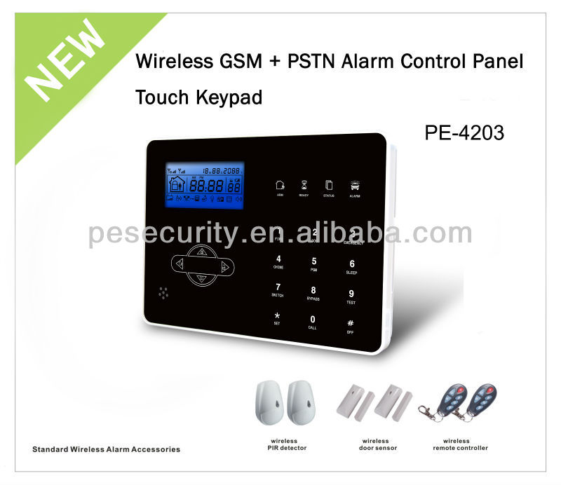lcd display simple home alarm security
