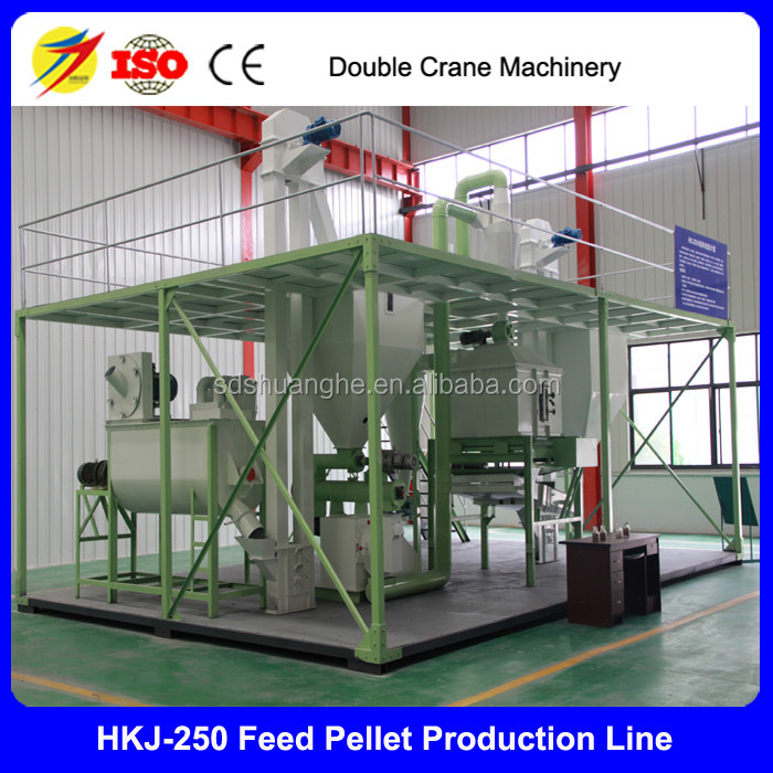 cattle feed pellet production manufacturing processing line