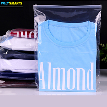 Factory direct sale clear plastic slide apparel packing bag clothing garment packaging bags with zipper