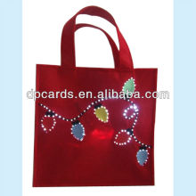 High quality gift bags with LED lighting flashing OEM designs available