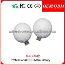 Promotional Golf Ball Usb Flash Drive World Cup Usb Memory Stick ,Custom Golf Pen Drive