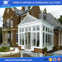 Professional custom prefabricated glass aluminium sun house