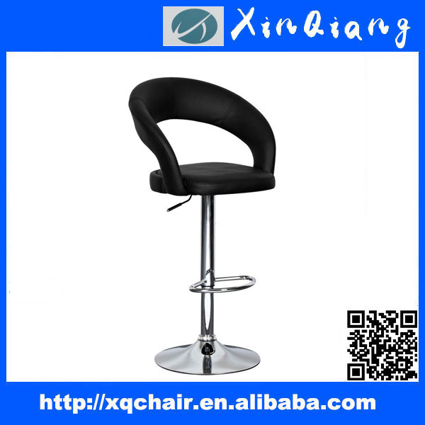 XQ-754 2015 Popular Comfortable PU Leather Swivel Bar Stool with Backrest and Adjustable Height