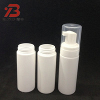 50ml PE plastic airless foam dispenser pump bottle, PE foaming bottle with pump, empty hair foam bottles (printing/ label)