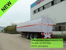 China carbon steel 40000-60000L 3 axles double hulled oil tankers for sale 0086-13635733504