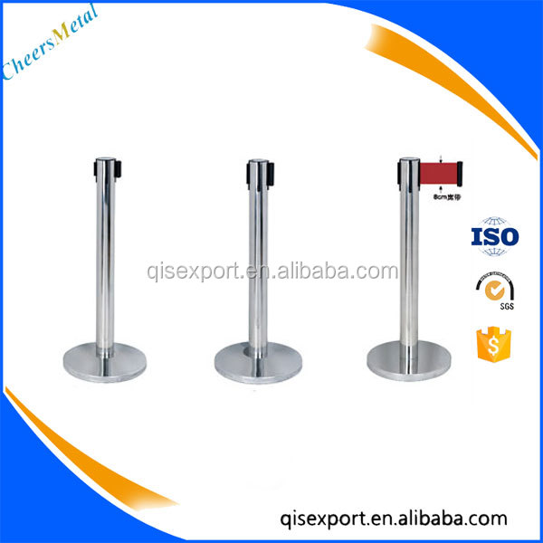 Folding Stainless Steel Queue Barrier/ Stand/ Pole