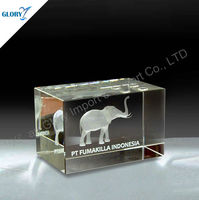 Top selling business gifts laser cut crystal paperweights