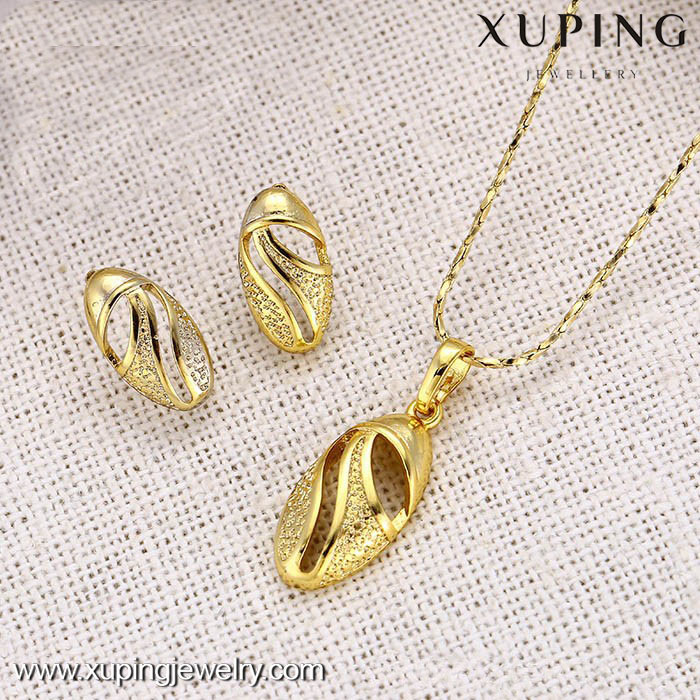62573-14k gold plated jewelry set from dubai for women