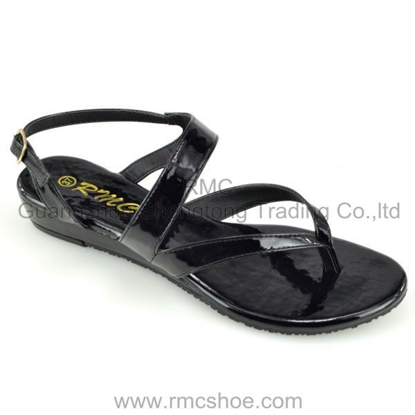 RMC glossy strap women shoes for summer