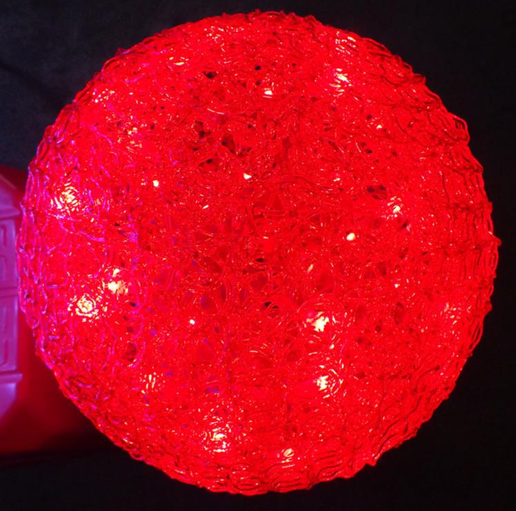 Decorative acrylic led 3d motif light large outdoor for Big outdoor christmas balls